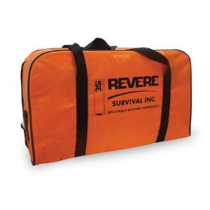 REVERE 27-1/2 x 17 x 11 in Polyester 8-Persons Inflatable Buoyant Apparatus Life Raft, Valise|45-REV-IBA-8V