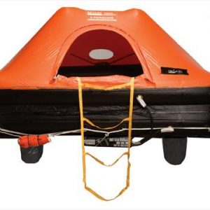 REVERE Coastal Commander 29-1/2 x 16 x 11-1/2 in 6-Persons Life Raft with Canopy, Hard Container|45-COASTCO6C