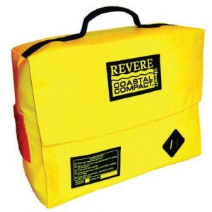 REVERE Coastal Compact 19-1/2 x 10 x 5 in 2-Persons Life Raft, Yellow, Valise|45-CC2V