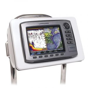 SEAVIEW 12-1/4 x 16.94 in ABS Plastic Uncut Pedestal Guard/Rail Mount Sail Pod for Multi-Function Displays and Chartplotters, White|SP4S
