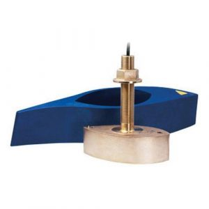 AIRMAR 1 kW 42 to 65 kHz Low130 to 210 kHz High Bronze Chirp-Ready Through-Hull Depth and Temperature Transducer|B265C-LH