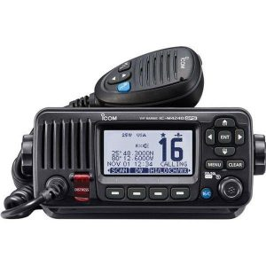 ICOM M424G Black VHF Marine Transceiver with GPS Receiver|M424G/41/BLK