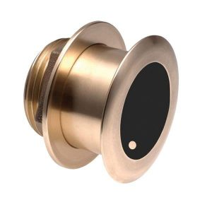 AIRMAR Tilted Element B175C 1 kW 85 to 135 kHz Medium Bronze Fixed 20 deg Tilted Chirp-Ready Through-Hull Depth and Temperature Transducer W/ Furuno connector |B175C-20-M-12F
