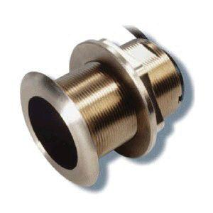 AIRMAR Tilted Element B75C 600 W 130 to 210 kHz High Bronze Fixed 0 deg Tilted Chirp-Ready Through-Hull Depth and Temperature Transducer | B75C-0-H-8G