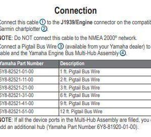 GARMIN Yamaha Engine Bus to J1939 Adapter Cable|010-12770-00