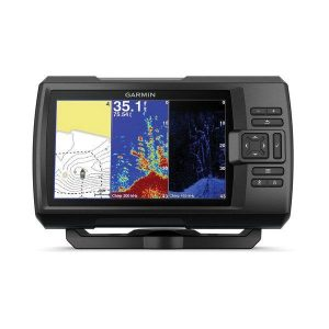 GARMIN STRIKER Plus 7cv Series 7 in WVGA GPS Fishfinder with Mapping Software, ClearV and Traditional CHIRP Sonar and GT20-TM Transducer|010-01873-00