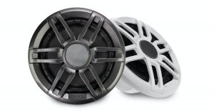 FUSION XS-F65SPGW Series 6-1/2 in 200 W 4 Ohm 2-Way Classic Marine Speaker with LED, White and Black|010-02196-01