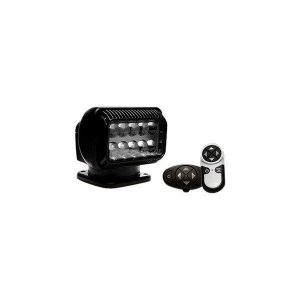 GOLIGHT RADIORAY 40 W 12 VDC Permanent 10-LED Search Light with Wireless Handheld and Wireless Dash Mount Remote, Black | 20574GT